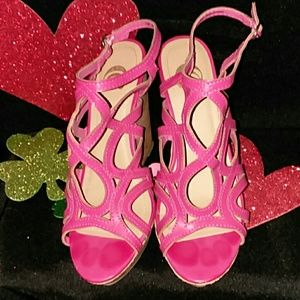 998b983281df Charming Charlie Shoes - Pink Strappy Sexy Shoes 7M- 4.5 inch heel